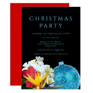 Invitación hawaiana de la fiesta de Navidad de la