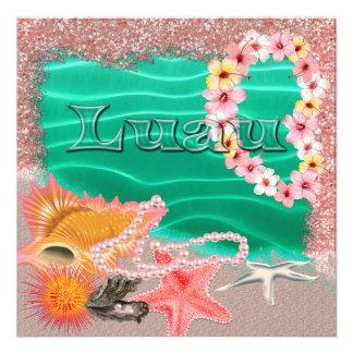 Invitación hawaiana de Luau de la hawaiana