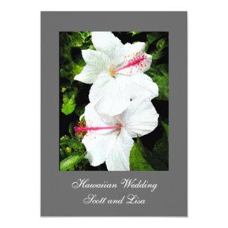 Invitación hawaiana del boda