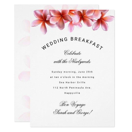 Invitación hawaiana del desayuno del boda del