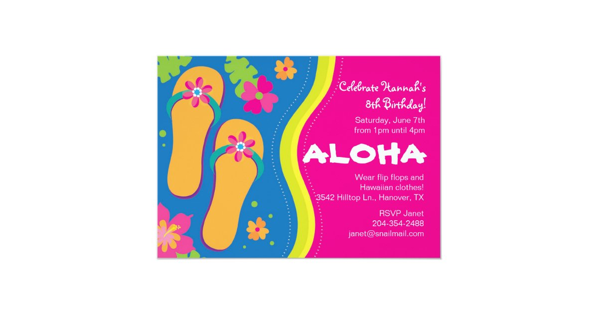 Invitación hawaiana del fiesta de Luau | Zazzle.es