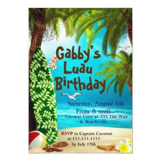 Invitación hawaiana del fiesta, invitaciones del