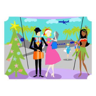Invitación hawaiana retra de la fiesta de Navidad Invitación 12,7 X 17,8 Cm