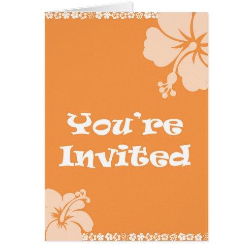 Invitación hawaiana tarjetón