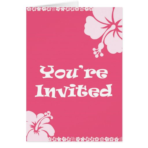 Invitación hawaiana tarjetas