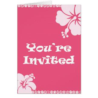 Invitación hawaiana tarjeta de felicitación