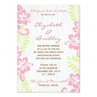 Invitación hawaiana tropical del boda