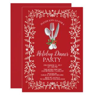 Invitación hermosa de la cena de navidad del día