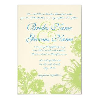 Invitación hermosa del boda de la flor del vintage
