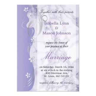 Invitación hermosa del boda del mármol de la