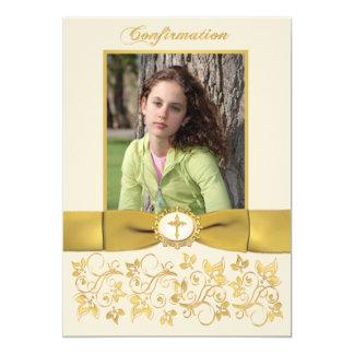 Invitación IMPRESA de la foto de la confirmación Invitación 12,7 X 17,8 Cm
