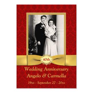 Invitación IMPRESA del aniversario de boda de la