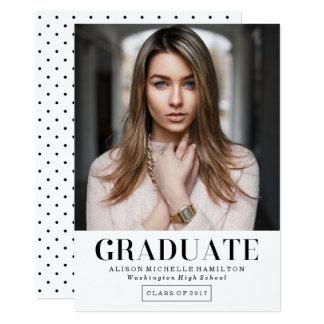 Invitación intemporal de la foto de la graduación
