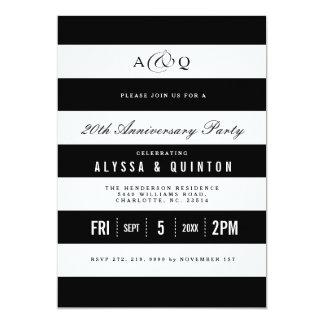 Invitación intrépida de la fiesta de aniversario