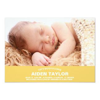 Invitación intrépida del nacimiento del bebé invitación 12,7 x 17,8 cm