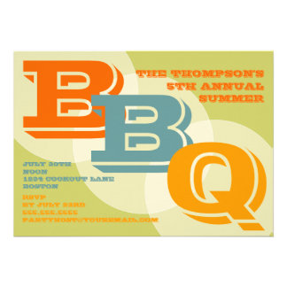 Invitación intrépida grande del Bbq