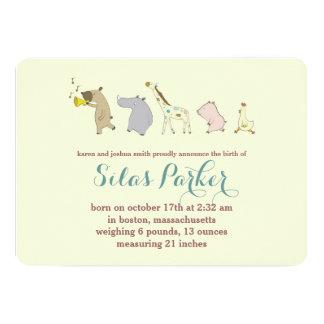Invitación/invitación animales del nacimiento del invitación 12,7 x 17,8 cm