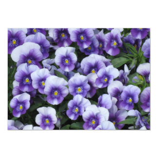 Invitación/invitación de encargo de las violetas invitación 12,7 x 17,8 cm