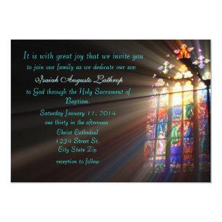Invitación/invitación del bautismo del vitral invitación 12,7 x 17,8 cm