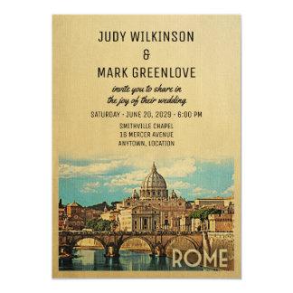 Invitación Italia del boda de Roma
