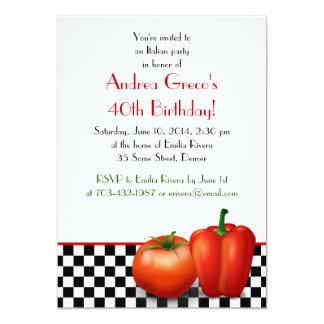 Invitación italiana retra del cumpleaños