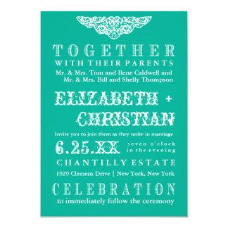 Invitación-jade del boda de Bill del teatro del Invitación 12,7 X 17,8 Cm