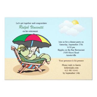 Invitación jubilada de la tortuga