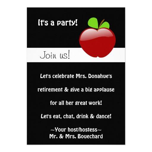 Invitación jubilada del fiesta del profesor