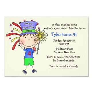 Invitación juvenil de la fiesta del Año