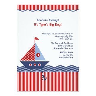 Invitación juvenil náutica del cumpleaños de la