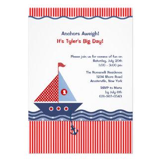 Invitación juvenil náutica del cumpleaños de la ra