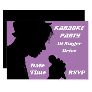 Invitación Karaoke Que Canta Tema Retro Del Fiesta