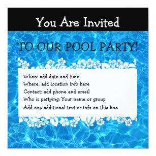 Invitaciones Fiesta Casa Playa 13 3 Cm X 13 3 Cm Zazzle Es