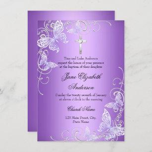 Invitación La mariposa púrpura del remolino y el bautismo de