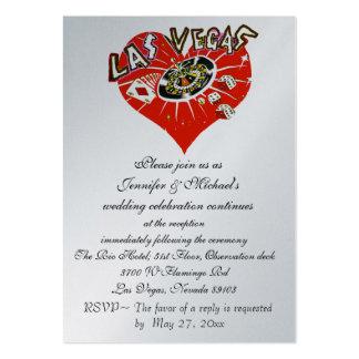 Invitación Las Vegas de la recepción nupcial Tarjetas De Visita Grandes