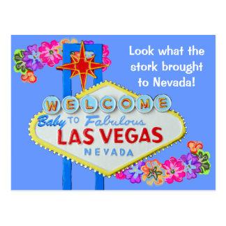 Invitación Las Vegas del nacimiento del bebé Postal