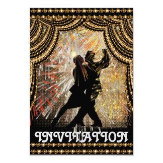 Invitación latina del baile del tango