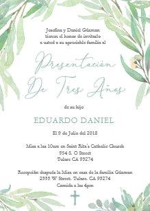 e4dde15c9 Invitación Latino presentación Misa de tres años para el
