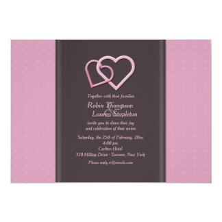 Invitación lesbiana del boda de los corazones que invitación 12,7 x 17,8 cm