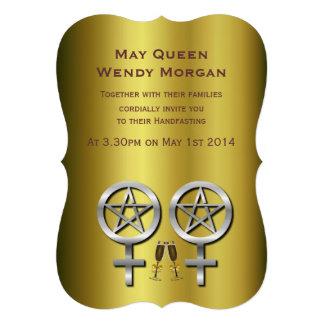 Invitación lesbiana del boda de Wiccan de la tosta