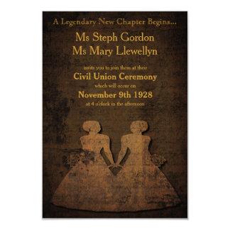 Invitación lesbiana del boda del amor legendario
