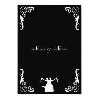Invitación lesbiana del boda - novia y novia