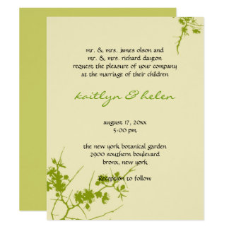 Invitación lesbiana gay de moda elegante del boda