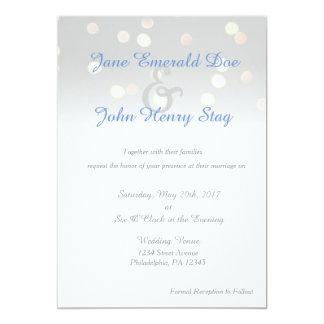 Invitación ligera del boda del centelleo