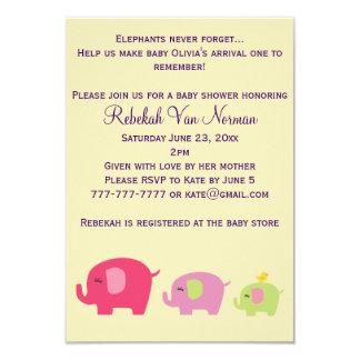 Invitación linda de la fiesta de bienvenida al invitación 8,9 x 12,7 cm