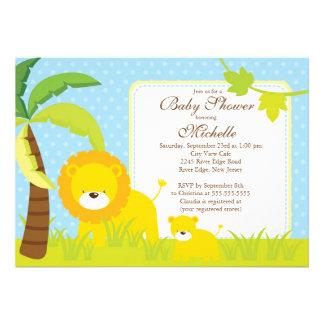 Invitación linda de la fiesta de bienvenida al beb