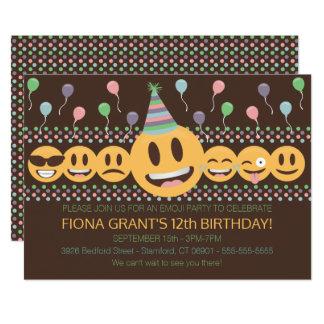 Invitación linda de la fiesta de cumpleaños de
