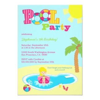 Invitación linda de la fiesta de cumpleaños de los invitación 12,7 x 17,8 cm