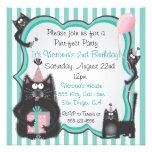 Invitación linda de la fiesta de cumpleaños del ga