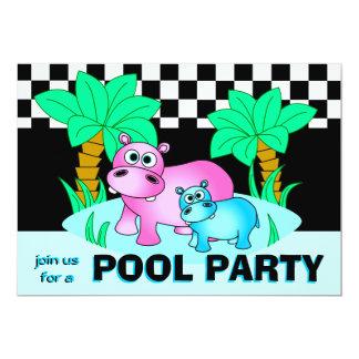 Invitación linda de la fiesta en la piscina de los